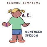 Symptômes de saisie d'épilepsie illustration stock