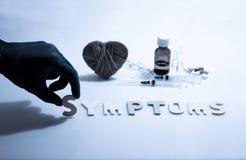 sympt40mes Photo stock