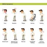Symptômes d'Ebola illustration stock