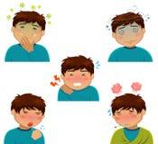 Symptômes de maladie Images libres de droits