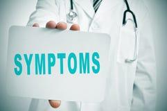 Symptoms Royalty Free Stock Photos