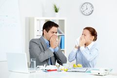 Symptoms of flu Stock Photos
