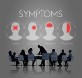 Symptoms Illness Sickness Healthcare Headache Concept Royalty Free Stock Images