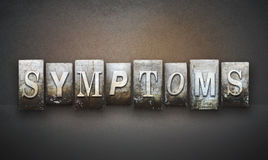 Symptoms Letterpress Royalty Free Stock Photo