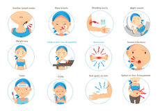Symptoms of leukemia. Infographics in circle.Vector illustrations Royalty Free Stock Image