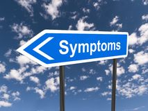 Symptoms sign Royalty Free Stock Photography