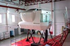 Symulanci w Kanadyjskich lotnictwo elektronika Lotniczy Azja w Kuala Lumpur zdjęcie stock