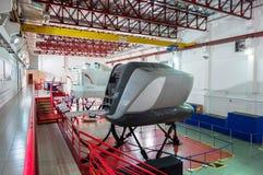 Symulanci w Kanadyjskich lotnictwo elektronika Lotniczy Azja w Kuala Lumpur zdjęcia stock