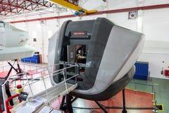 Symulanci w Kanadyjskich lotnictwo elektronika Lotniczy Azja w Kuala Lumpur zdjęcie royalty free