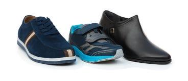 Synów buty otaczający tata i mamami Obraz Stock