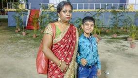 Syn I matka obrazy royalty free