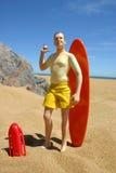 syn na plaży Zdjęcie Stock