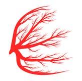 Syna åder, blod, design för symbol för skyttelvektorsymbol Fotografering för Bildbyråer
