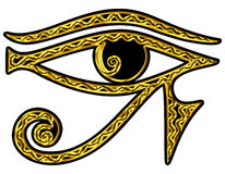 Syna av omvända Horus - syna av Thoth stock illustrationer
