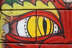 Grafitti på Rome vägg Royaltyfri Bild
