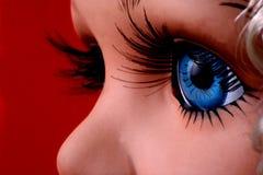 synad blå docka Arkivfoto