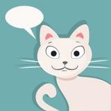 synad blå katt Plan vektorillustration Royaltyfri Bild