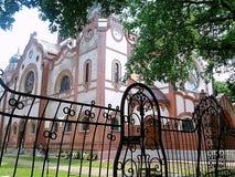 Synagoga, Żydowski kościół w sztuki Nouveau stylu obraz stock