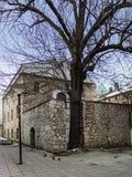 Synagoga i Sarajevo, Bosnien Arkivbild