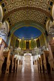 Synagoga in - mellan bönerna var tom färgrikt och högtidligt Fotografering för Bildbyråer