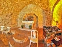 Synagogakyrka i Nazareth Arkivfoton