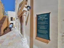 Synagogakyrka i Nazareth Arkivbild