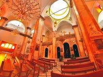 Synagogakyrka i Nazareth Royaltyfri Foto