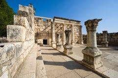 Synagogan av Capernaum Arkivbilder