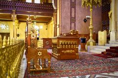 Synagoge in Boedapest Royalty-vrije Stock Foto