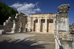 Synagoge Capernaum royalty-vrije stock afbeeldingen