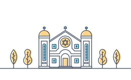 synagoge E r stock illustratie