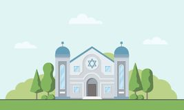synagoge E r vector illustratie