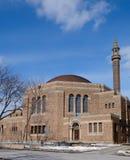 Synagoge im Schnee Lizenzfreie Stockfotos