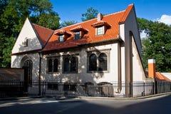 Synagoge - Joodse tempel in Praag Stock Fotografie