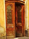Synagoge in Lviv, de Oekraïne De belangrijkste deur Royalty-vrije Stock Afbeelding