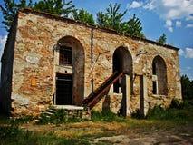 Synagoge in Ostroh, de Oekraïne Stock Afbeelding