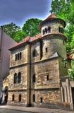 Synagoge in Prag HDR Stock Afbeelding