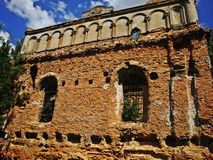 Synagoge in Sokal, de Oekraïne Stock Foto's