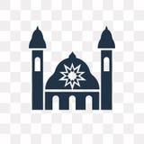 Synagoge vectordiepictogram op transparante achtergrond, Synago wordt geïsoleerd royalty-vrije illustratie