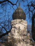 Synagogekoepel, Kecskemet, Hongarije Stock Afbeeldingen