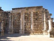 Synagogue antique chez Kfar Nahum Image libre de droits
