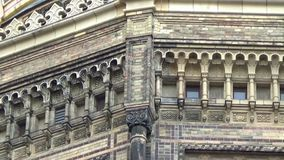 Synagogue in Berlin, Oranienburger Strasse, Germany, June 2016. The famous synagogue in Berlin`s Oranienburger Strasse attracts countless tourists. The golden stock footage