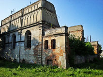 Synagogue in Brody, Ukraine. The great synagogue of Brody. The building of defense type. Photo:2012 Stock Photography