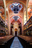 Synagogue Budapest. Interior of the largest synagogue  in Europe, Budapest Royalty Free Stock Photos