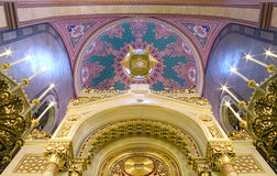 Synagogue Budapest. Interior of the largest synagogue  in Europe, Budapest Royalty Free Stock Photo