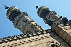 Synagogue in Budapest, Hungary. Stock Photos