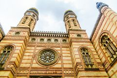 Synagogue of Budapest in Hungary royalty free stock photos