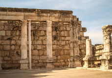 Ruins of the Synagogue from Capernaum, Israel Stock Images