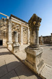 The synagogue of Capernaum Stock Image