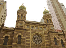 Synagogue centrale à Manhattan Photos libres de droits